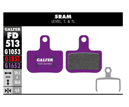Pastillas de ferno Galfer FD513 para E-Bike SRAM Level