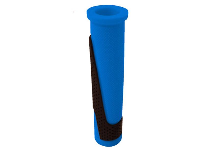 Puños MTB TKX en goma azul-negro