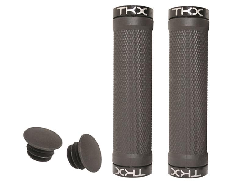 Puños en tpr y aluminio TKX Negro
